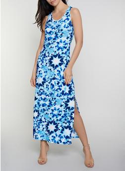 Tie Dye Racerback Tank Maxi Dress | 0094038349913 - 0094038349913