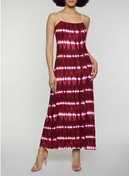 Soft Knit Tie Dye Maxi Dress - 0094038349940