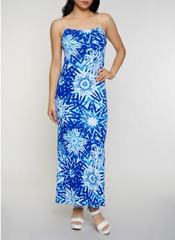 Tie Dye Soft Knit Maxi Dress - 0094038349943