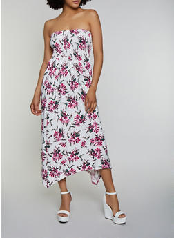 Smocked Floral Maxi Dress - 0094038349963