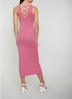 Ribbed Caged Back Tank Dress - 0094038349993
