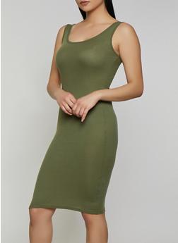 Solid Rib Knit Tank Dress   0094038349998 - 0094038349998
