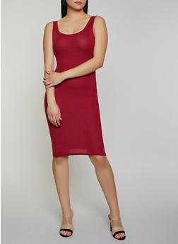 Solid Rib Knit Tank Dress | 0094038349998 - 0094038349998