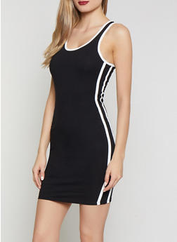 Contrast Trim Mini Tank Dress - 0094051063995