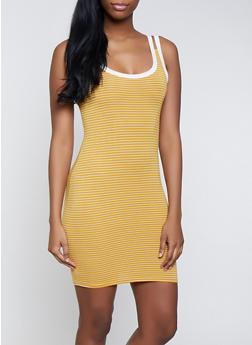 Striped Double Strap Tank Dress | 0094051064044 - 0094051064044