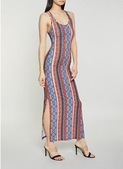 Aztec Racerback Maxi Dress - 0094051064954