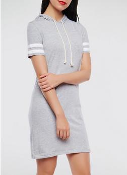 Varsity Stripe Hooded Dress - 0094054260507