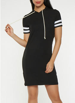 Varsity Stripe Hooded Dress - 0094054260507