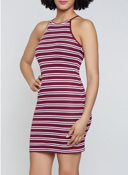 Striped Rib Knit Dress | 0094054261145 - 0094054261145