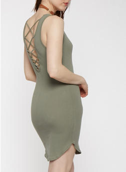 Caged Back Tank Dress - 0094054268362
