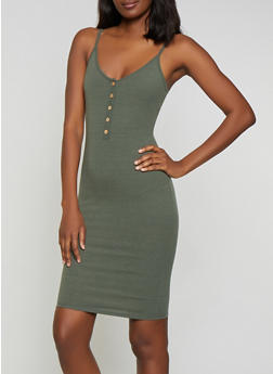 Ribbed Knit Cami Dress - 0094058750059