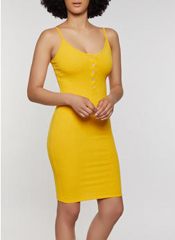Ribbed Knit Cami Dress - 0094058750059