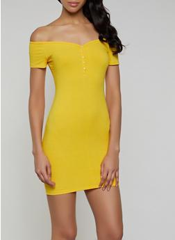 Off the Shoulder Mini Bodycon Dress - 0094058750525