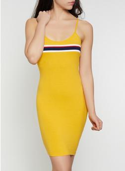 Striped Detail Mini Cami Dress - 0094058750741