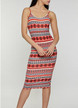 Soft Knit Printed Cami Dress - 0094058751732