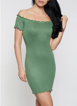 Lettuce Edge Off the Shoulder Bodycon Dress - 0094058752210
