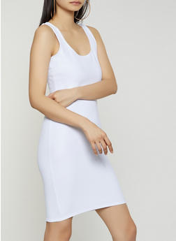 Basic Scoop Neck Tank Dress - 0094058753950