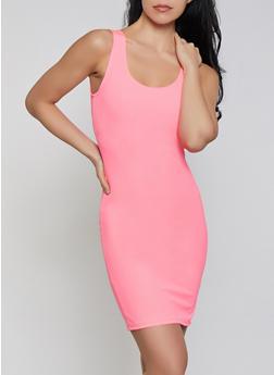 Basic Scoop Neck Tank Dress - 0094058753950