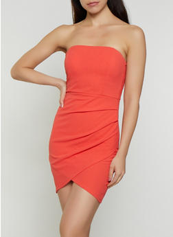 Ruched Crepe Knit Tube Dress - 0094058754418