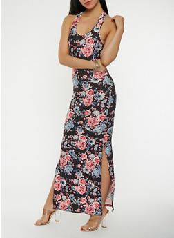 Floral Maxi Tank Dress - 0094060583228