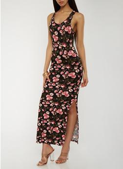 Soft Knit Floral Maxi Dress - 0094060583730