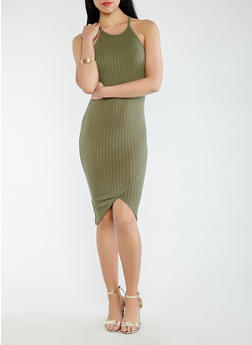 Rib Knit Tank Dress - 0094061639658