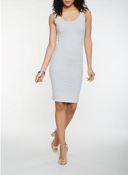 Solid Tank Midi Dress - 0094061639660