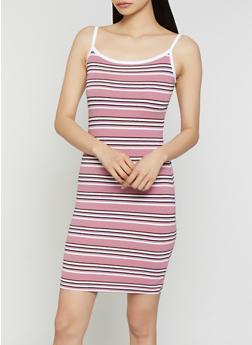 Striped Contrast Trim Cami Dress | 0094061639753 - 0094061639753