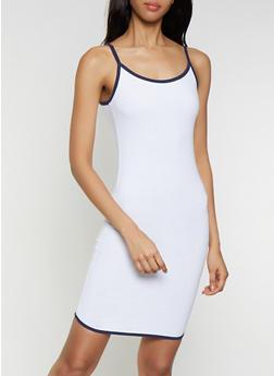 Contrast Trim Cami Dress - 0094061639754