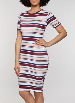 Womens Striped Knit Tee