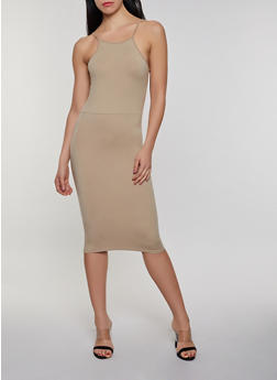 Soft Knit Midi Cami Dress - 0094073372402
