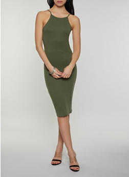 Green XL Midi Dresses