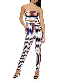 Ruched Side Tube Jumpsuit - 0094073372409