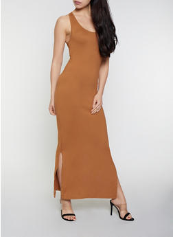 Soft Knit Racerback Tank Dress - 0094073372706