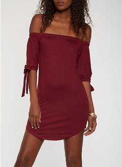 Soft Knit Off the Shoulder Dress - 0094073374660