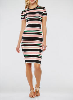 Striped T Shirt Dress - 0094073374920