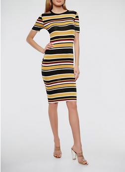 Striped T Shirt Dress - 0094073374920