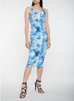 Tie Dye Midi Tank Dress - 0094073375026