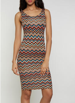 Chevron Soft Knit Tank Dress - 0094073378010