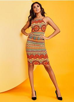 Tribal Print Cami Dress - 0094073378402