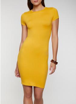 Solid Soft Knit T Shirt Dress - 0094074281177