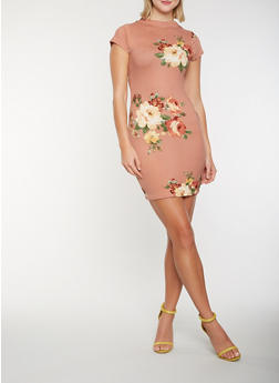 Floral Soft Knit Dress - 0094074281507
