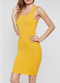 Solid Tank Midi Dress - 0094074282511