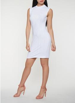 Studded Bodycon Tank Dress - WHITE - 0096034280216