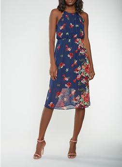 Printed Midi Dress - 0096074281904