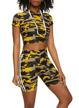 b02e680327d Varsity Stripe Camo Top and Bike Shorts - 0097061630161