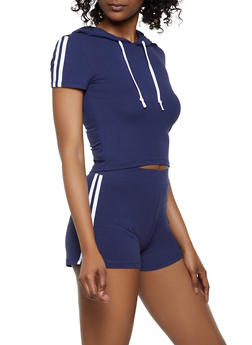 Hooded Tee and Shorts Set - 0097061630179