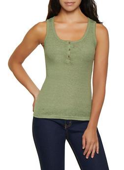 Ribbed Knit Tank Top | 0300015990290 - 0300015990290