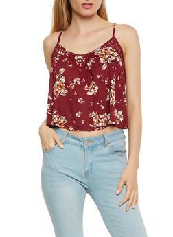 Floral Split Back Top - 0300054260582