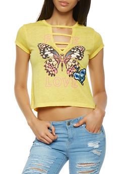 Butterfly Graphic Tee - 0302015990051